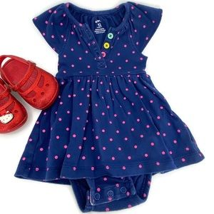 Carters Baby Girl Polka Dot One Piece Outfit